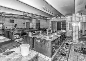 Gastronomieauflösung von alten Großküchen